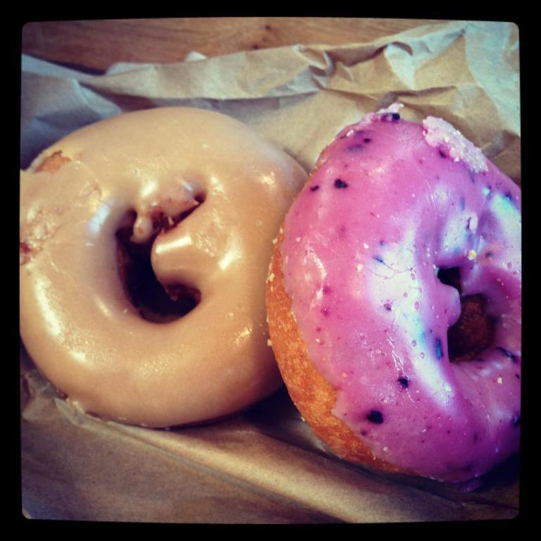 mmmmmm. vegan donuts!