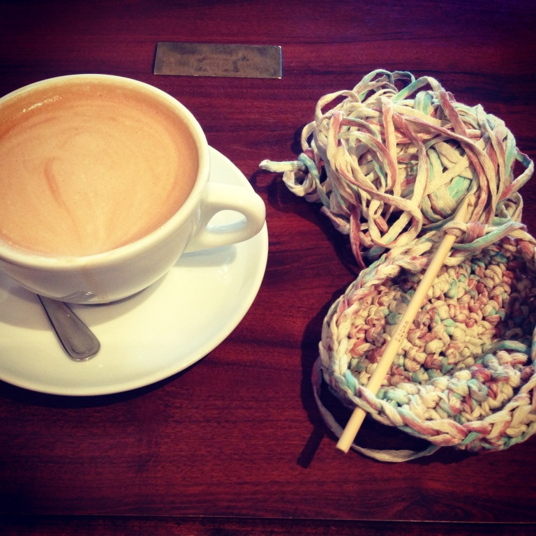latte and crochet