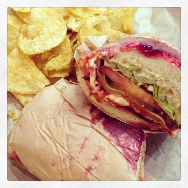 vegan pilgram on crunchy bread!