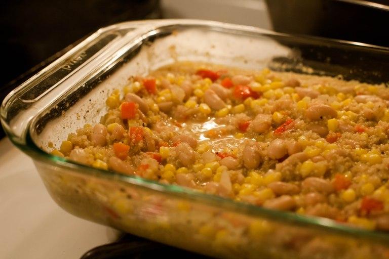 corn chowder quinoa casserole