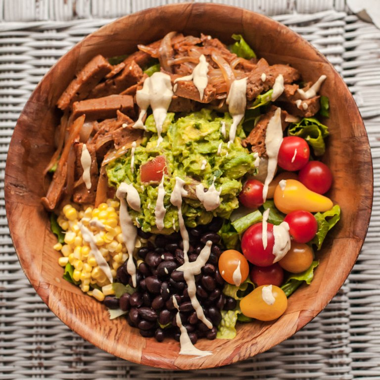 taco salad - vegan chef steph style