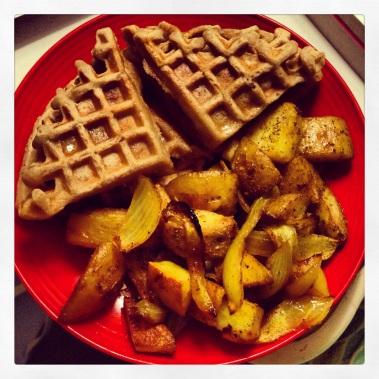 soy free waffles & roasted potatoes!