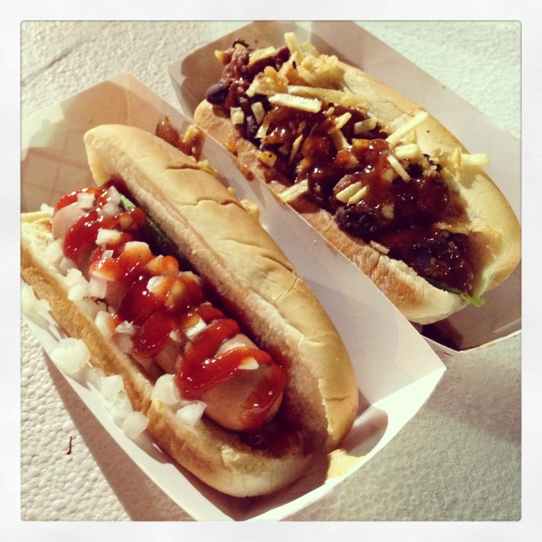 frankies dogs! (at funky buddha brewery every friday night)