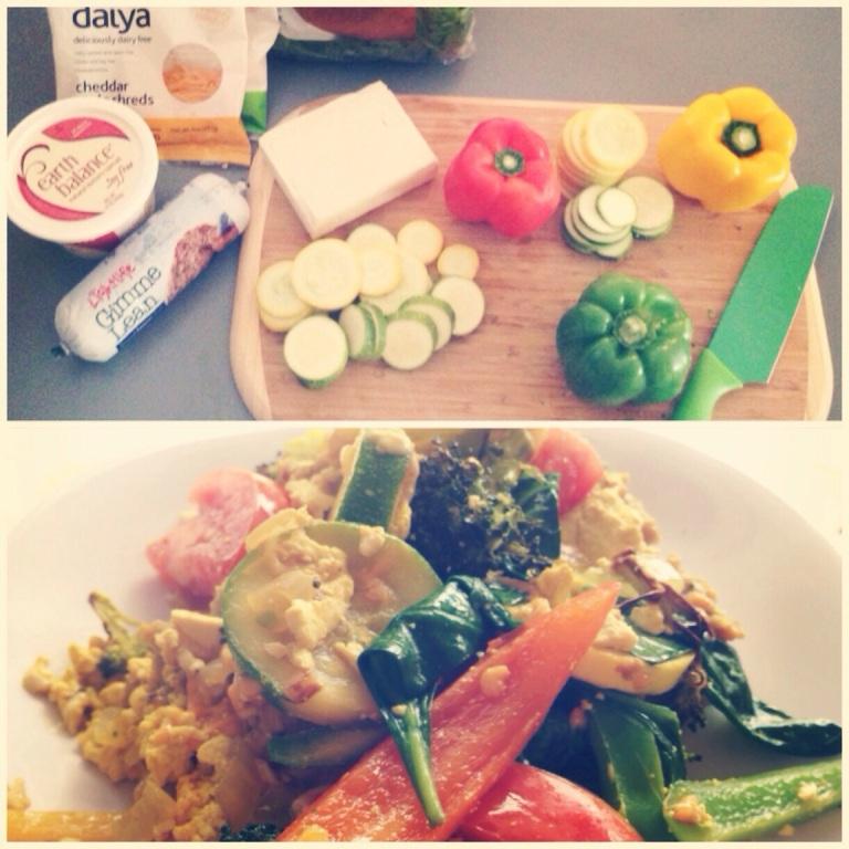 tofu veggie scramble!