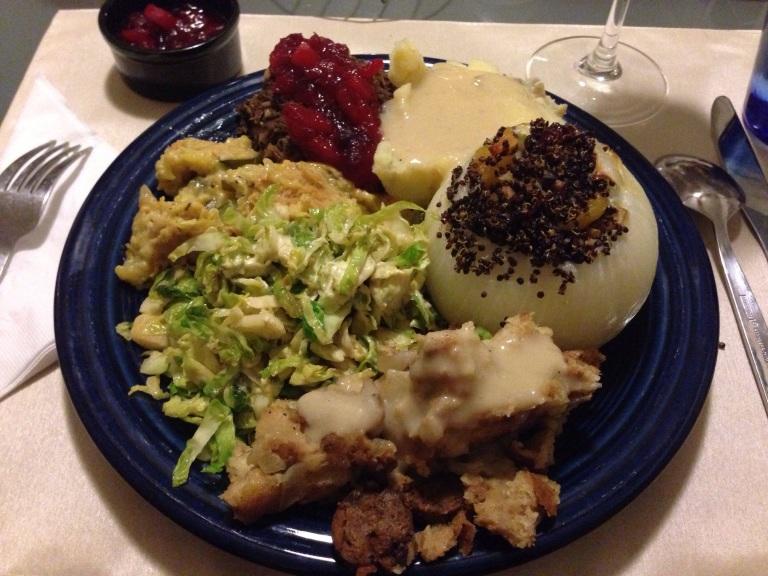 thanksgiving dinner - vegan style