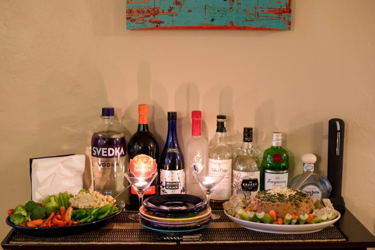 the appetizer table