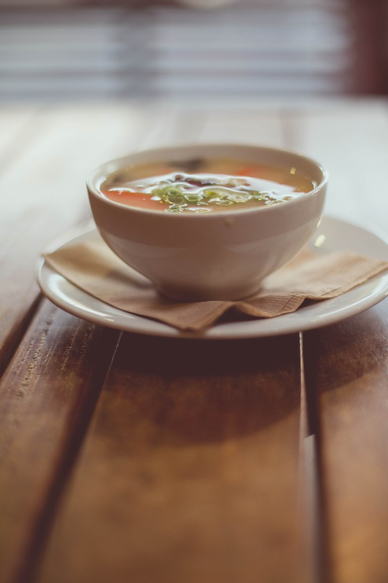 country vegetable miso soup - very hearty & delicious!